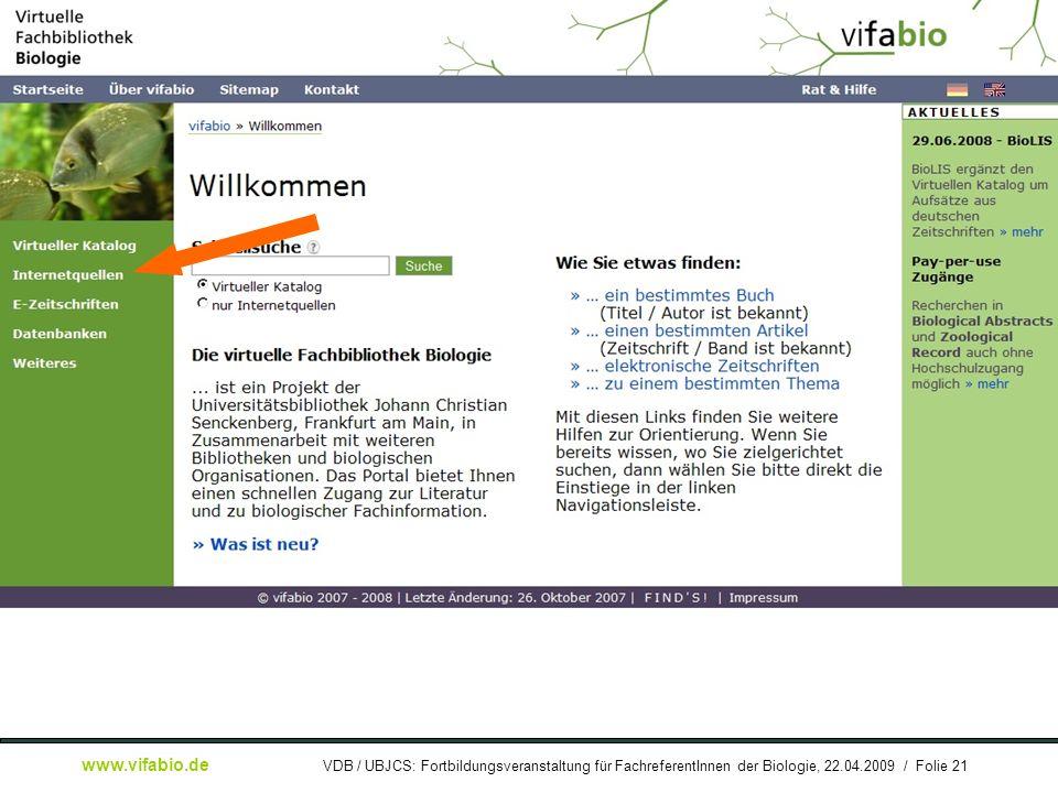[ Bildschirmfoto: ] Startseite: IQF-Link